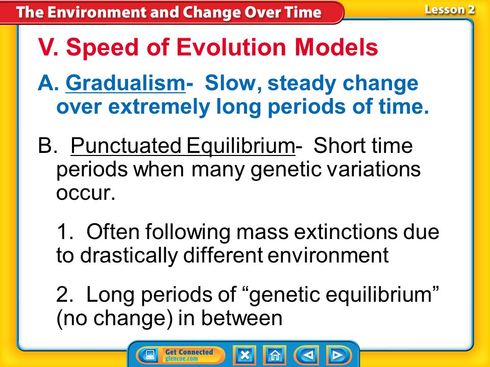 V. Speed of Evolution Models