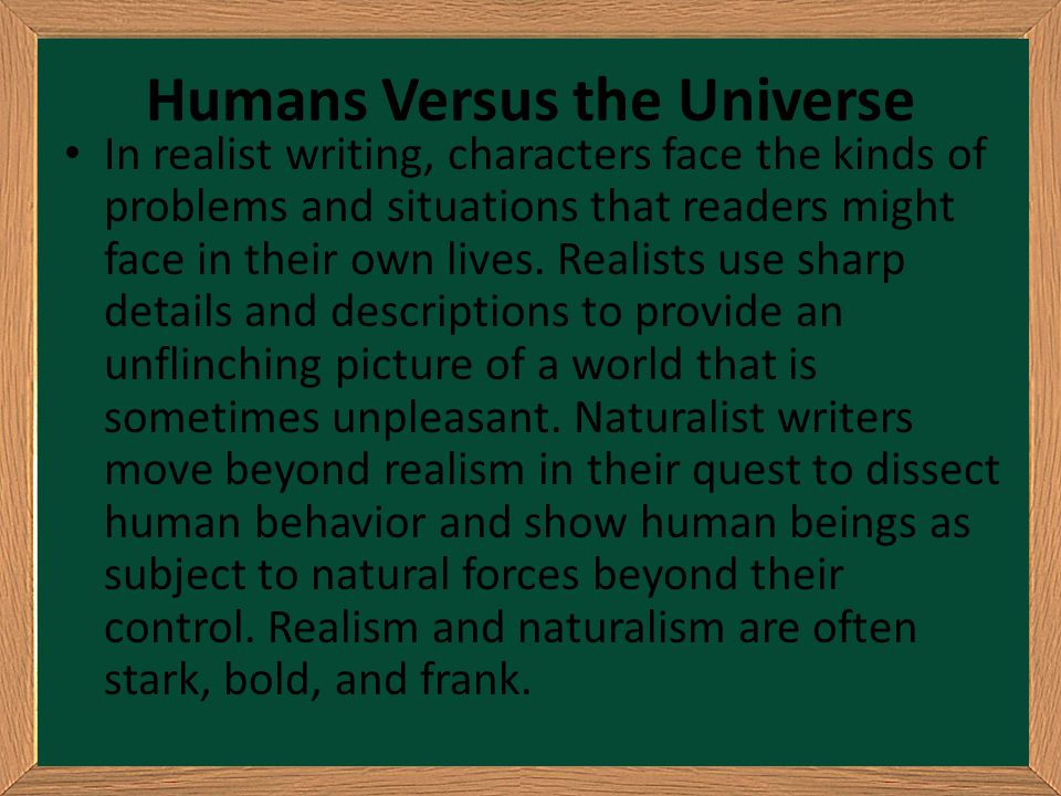 Humans Versus the Universe