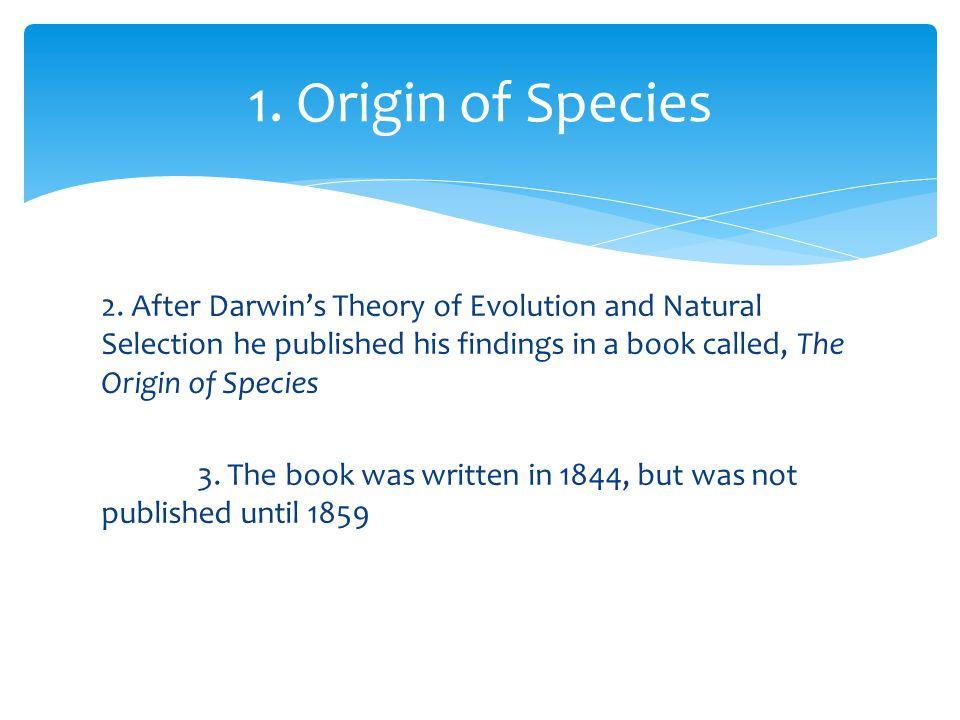 1. Origin of Species