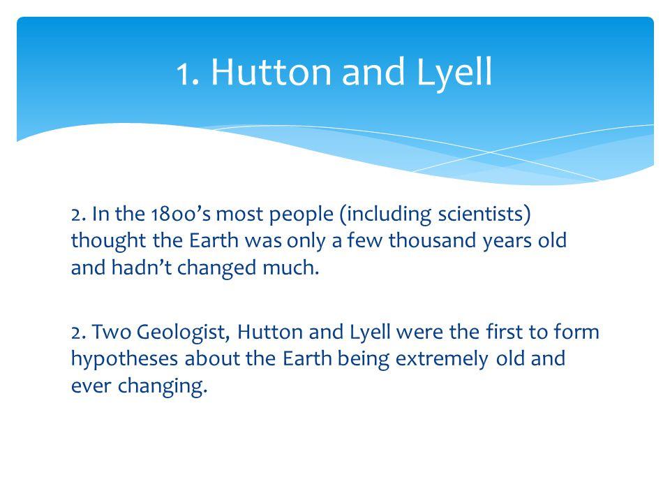 1. Hutton and Lyell