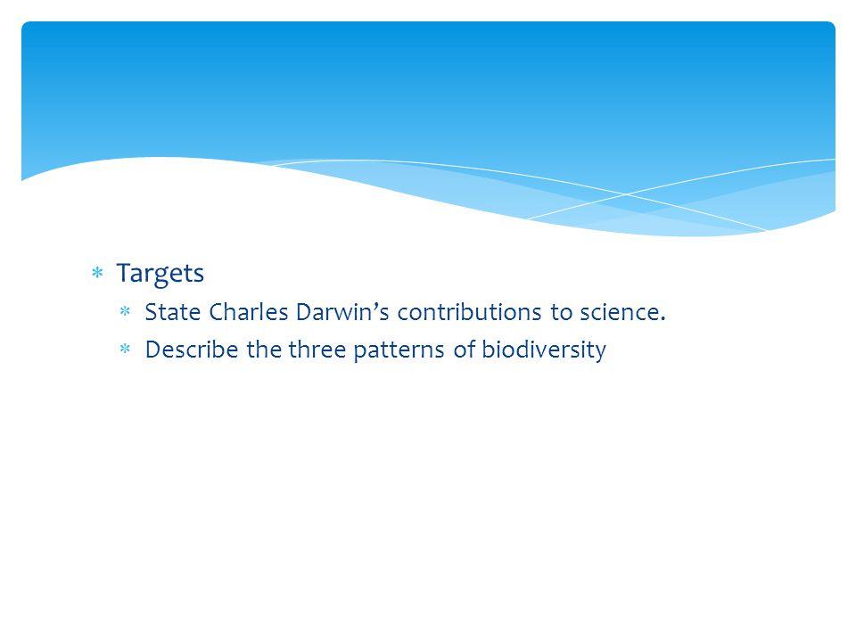 16.1 Darwins Voyage Targets