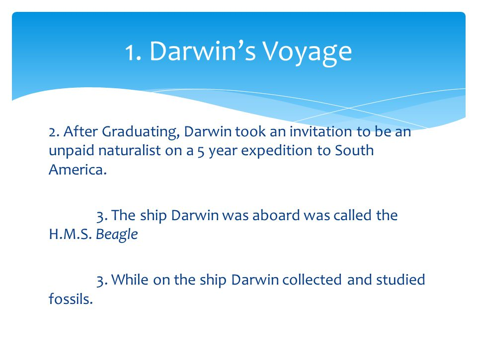1. Darwin's Voyage