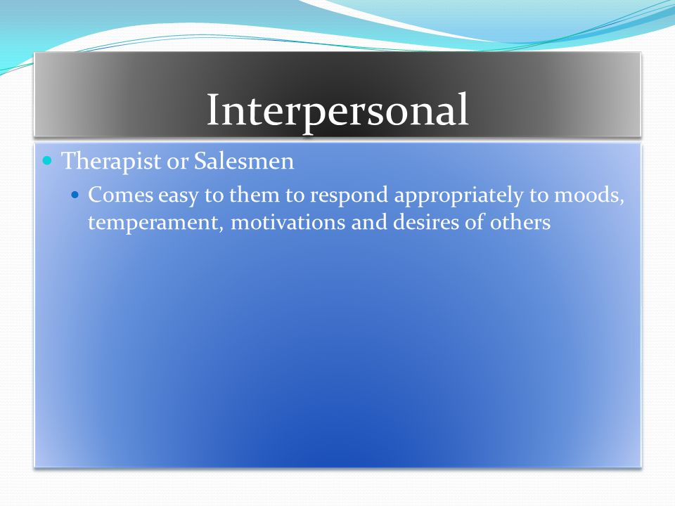 Interpersonal Therapist or Salesmen