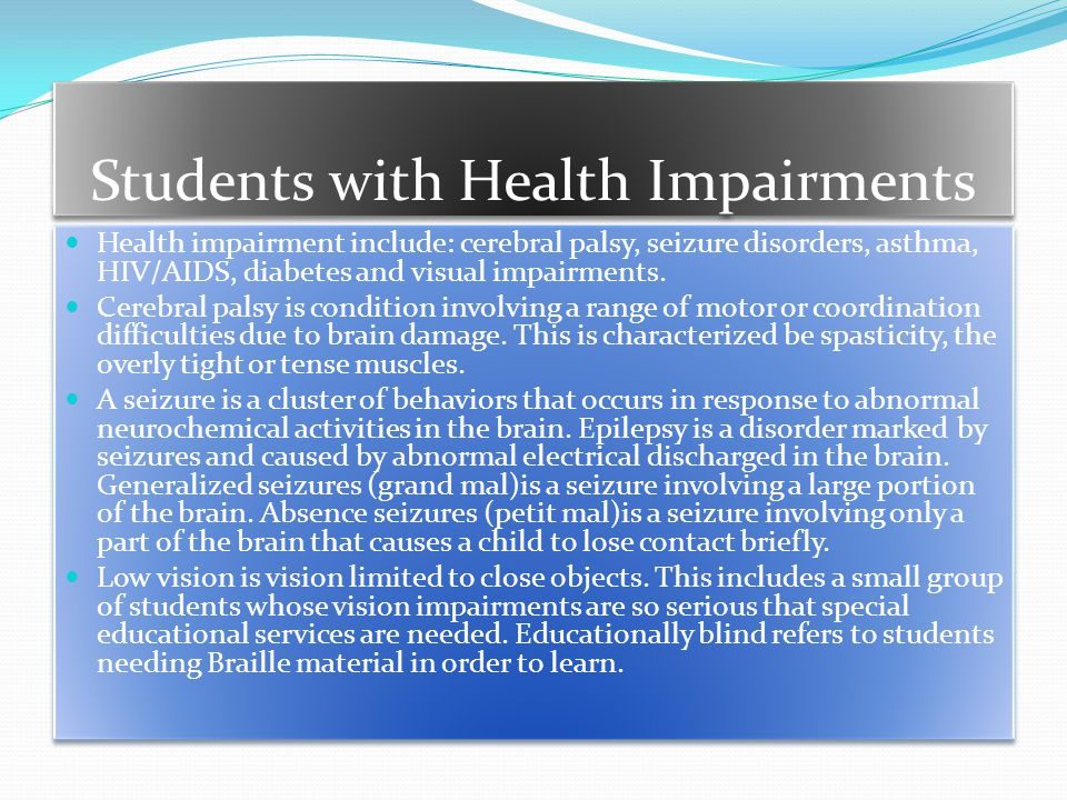 Students with Health Impairments