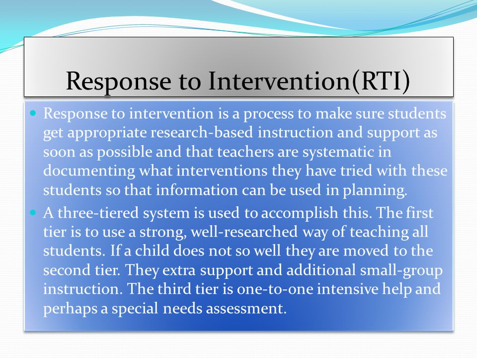 Response to Intervention(RTI)