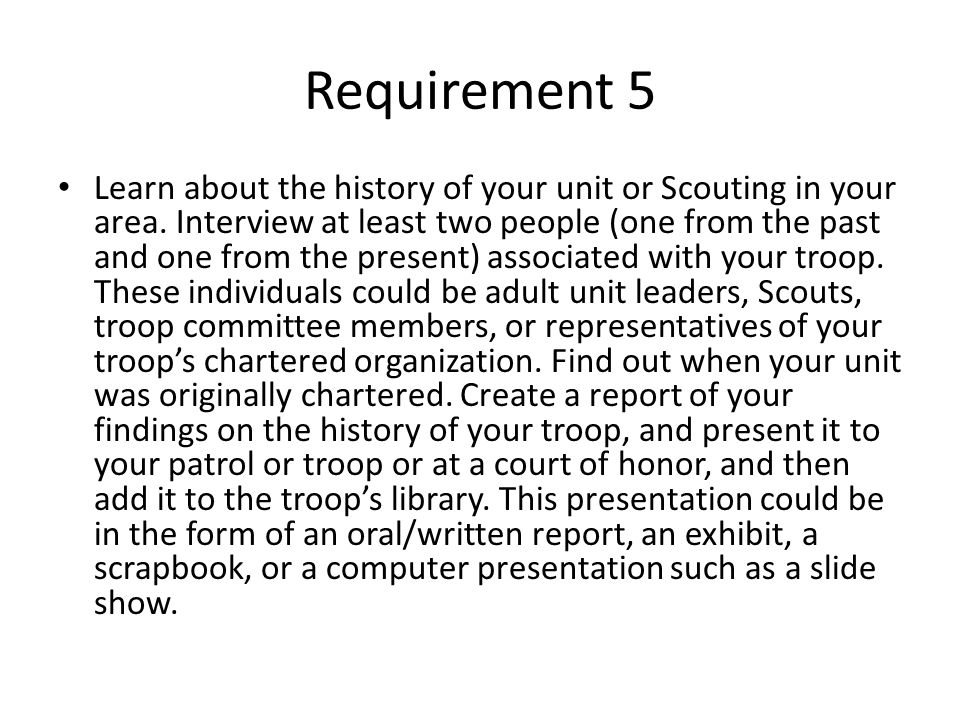 Requirement 5