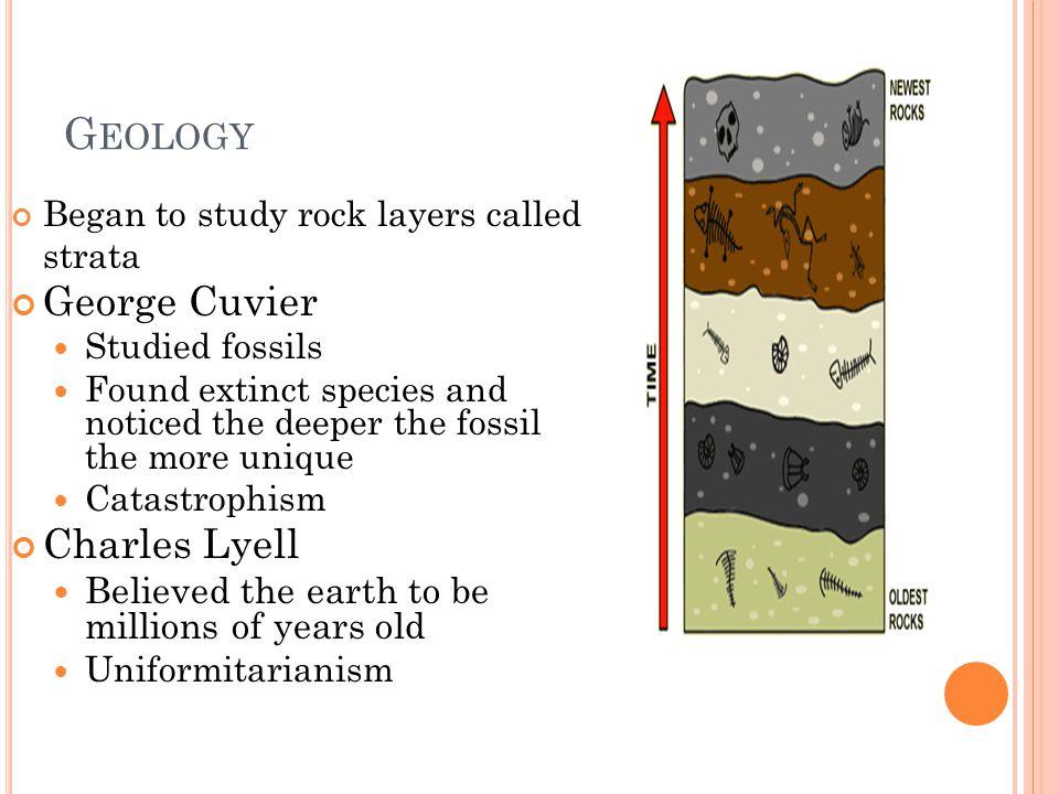Geology George Cuvier Charles Lyell