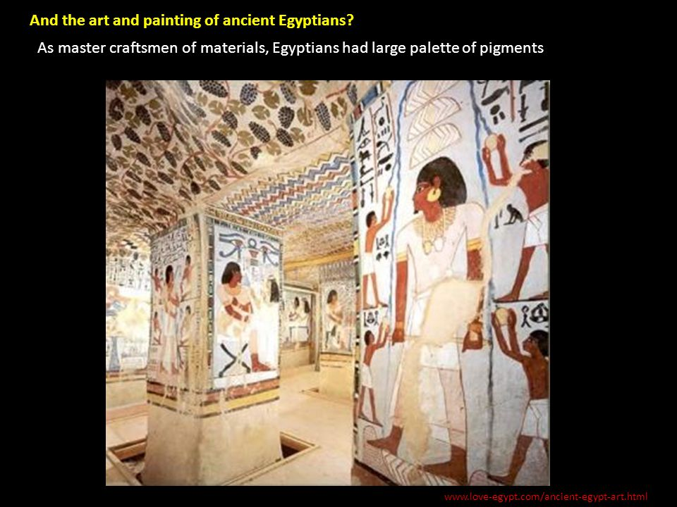 And the art and painting of ancient Egyptians