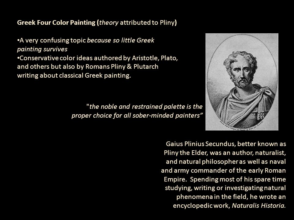 Greek Four Color Painting (theory attributed to Pliny)