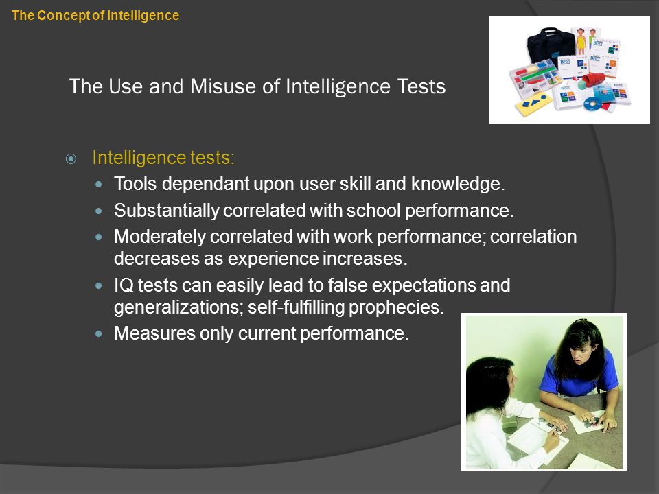 The Use and Misuse of Intelligence Tests