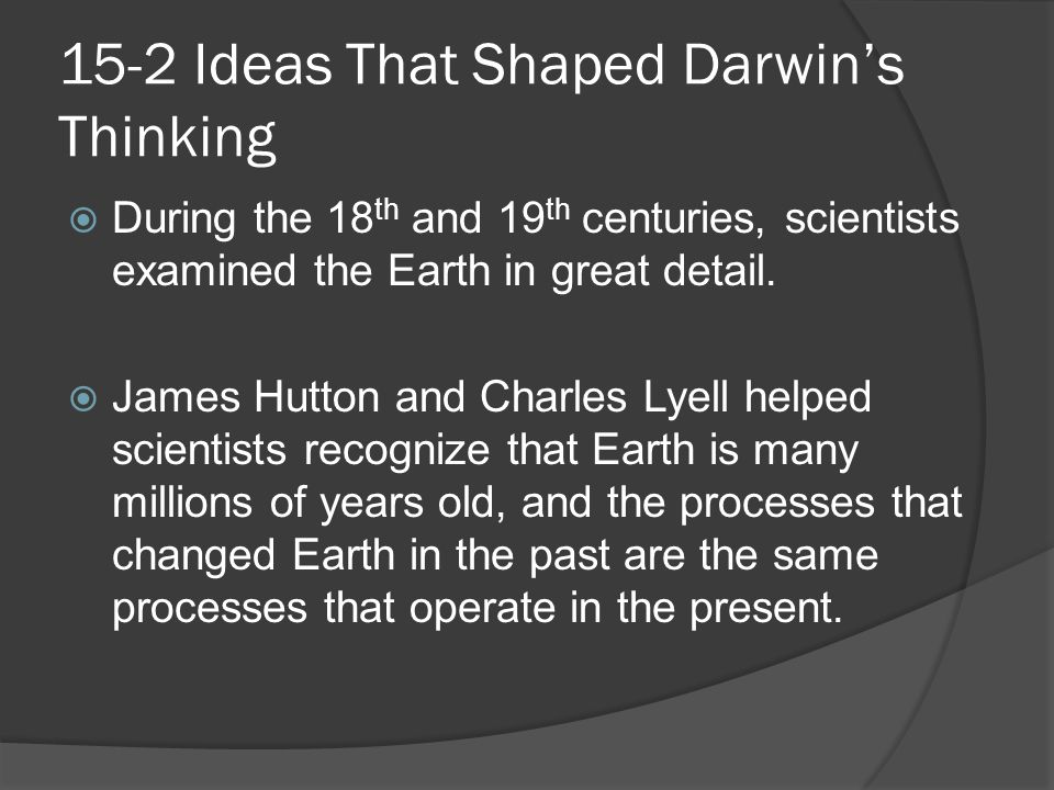 15-2 Ideas That Shaped Darwin's Thinking