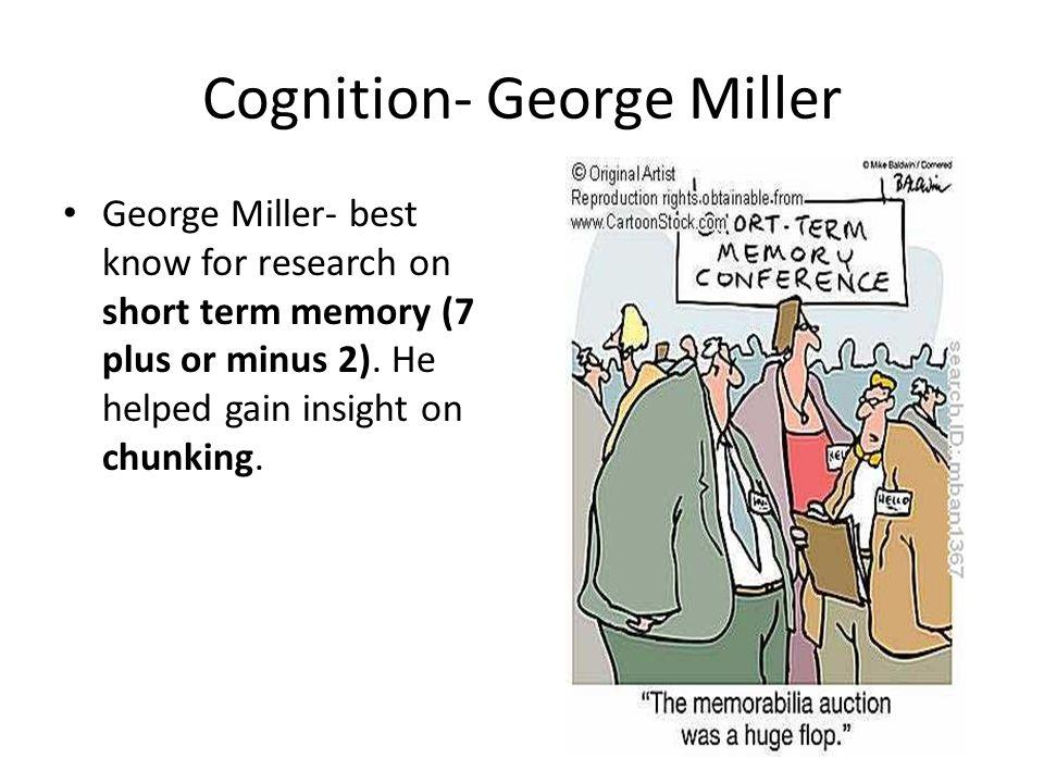 Cognition- George Miller
