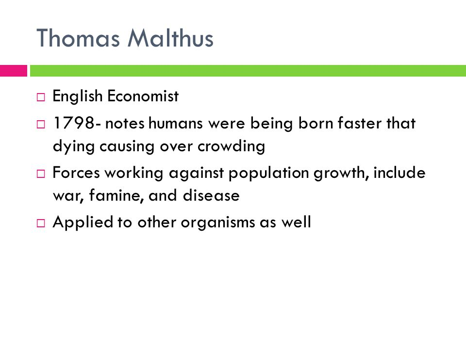 Thomas Malthus English Economist
