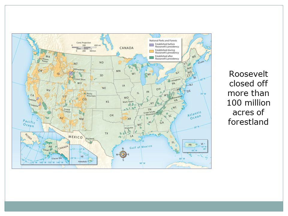Roosevelt closed off more than 100 million acres of forestland