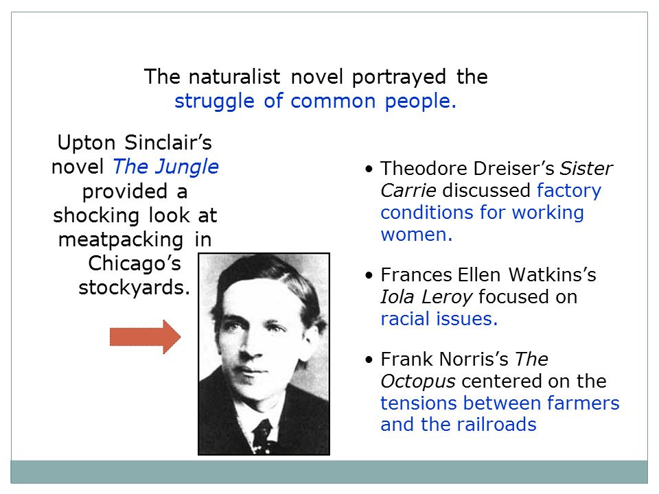 The naturalist novel portrayed the struggle of common people.