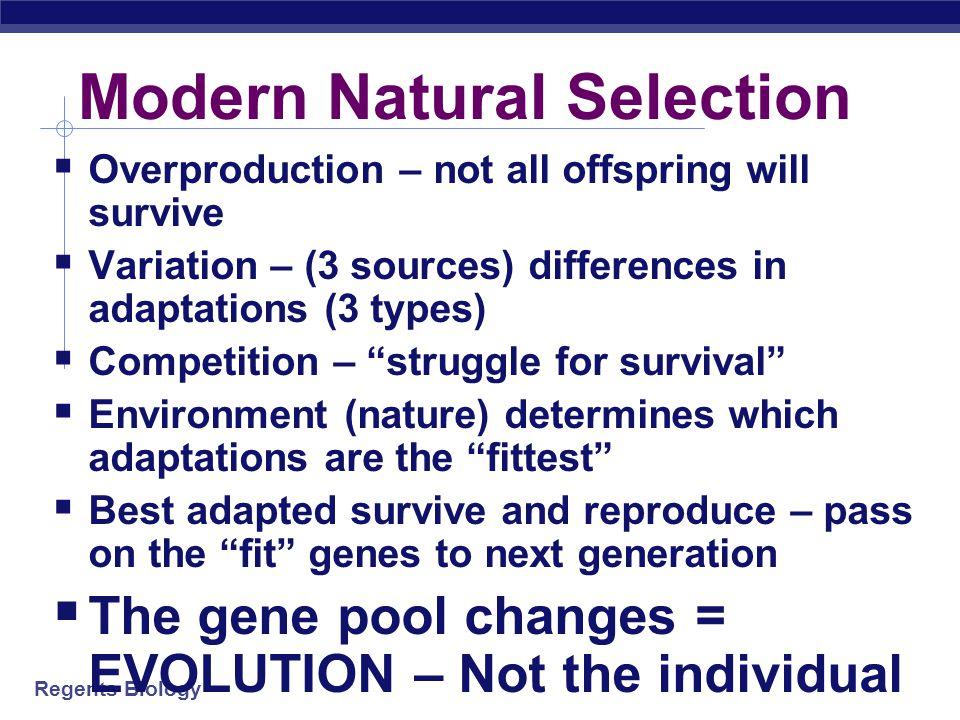 Modern Natural Selection