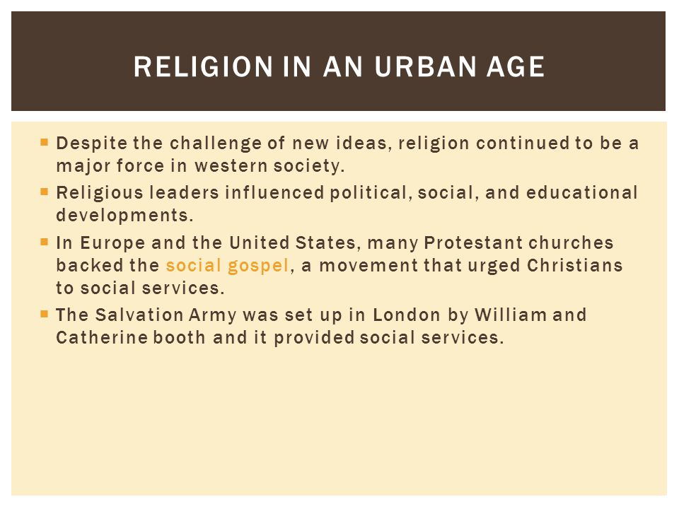 Religion in an Urban Age