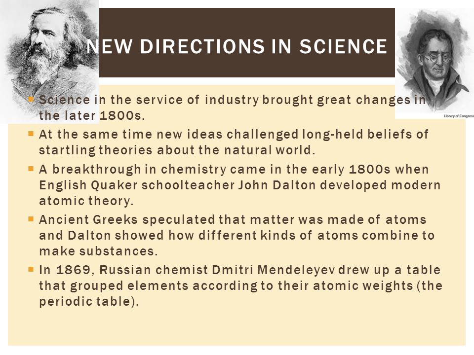 New Directions in Science