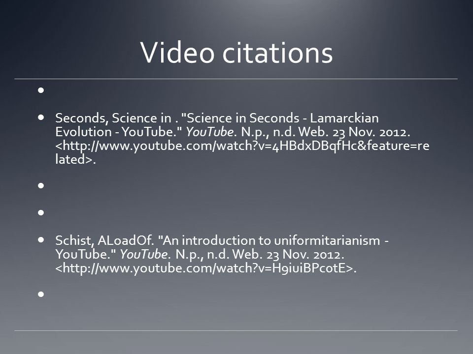 Video citations