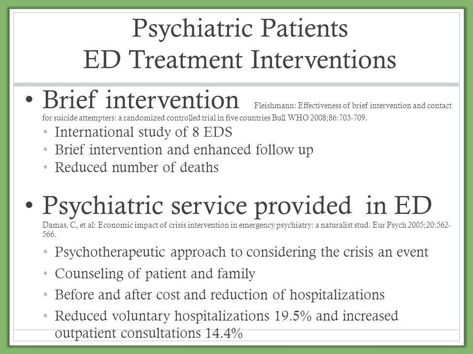 Psychiatric Patients ED Treatment Interventions