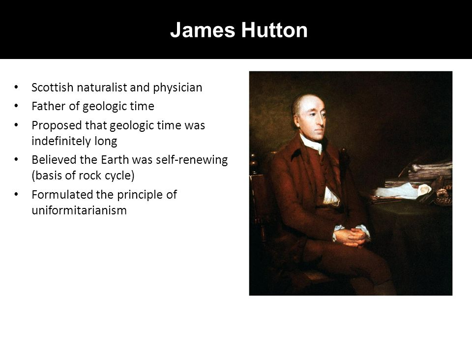 James Hutton Scottish naturalist and physician Father of geologic time