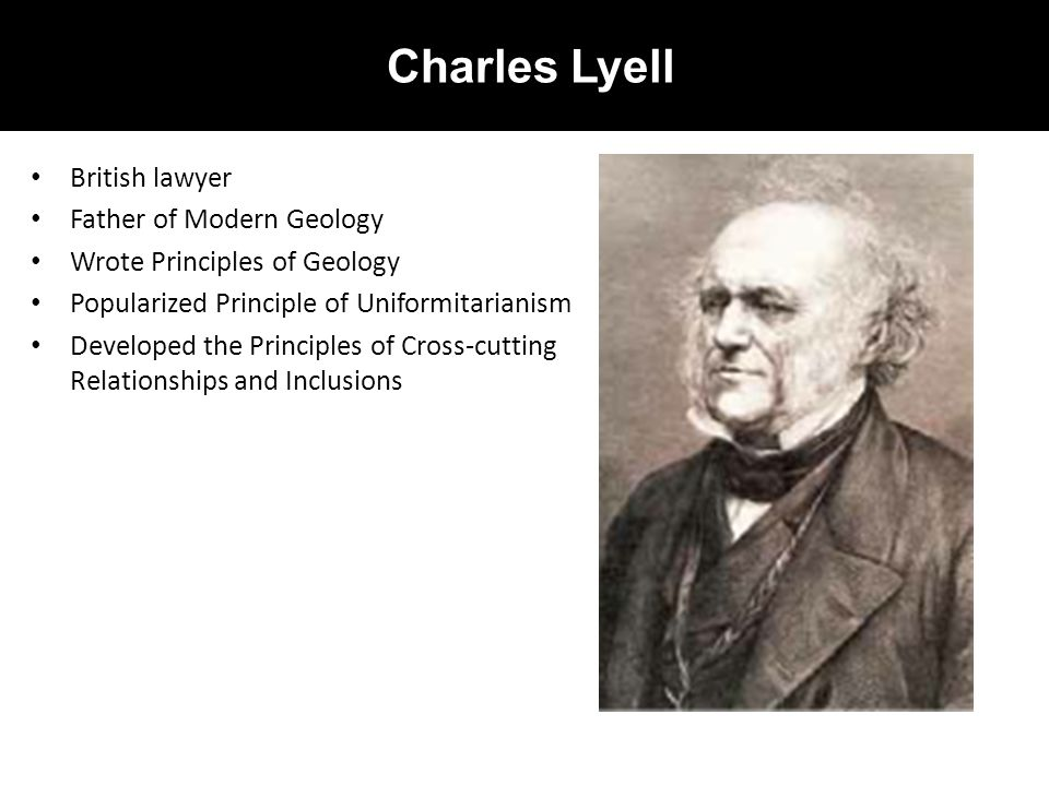 Charles Lyell British lawyer Father of Modern Geology