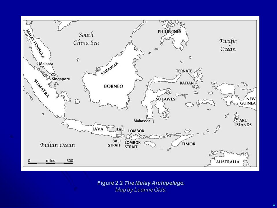 Figure 2.2 The Malay Archipelago. Map by Leanne Olds.