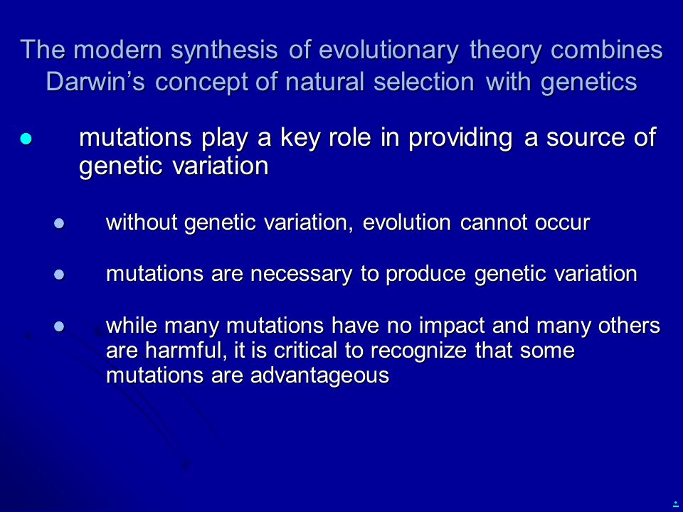 mutations play a key role in providing a source of genetic variation
