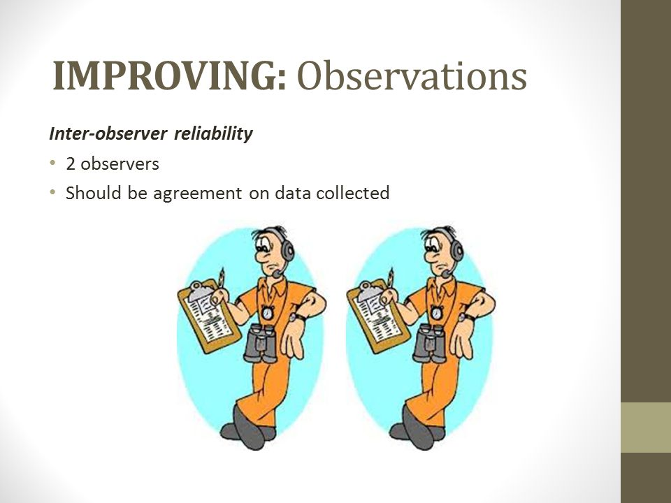 IMPROVING: Observations