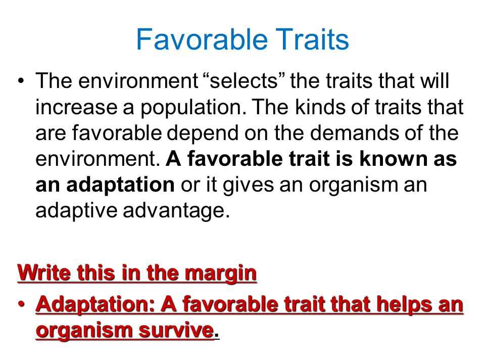 Favorable Traits