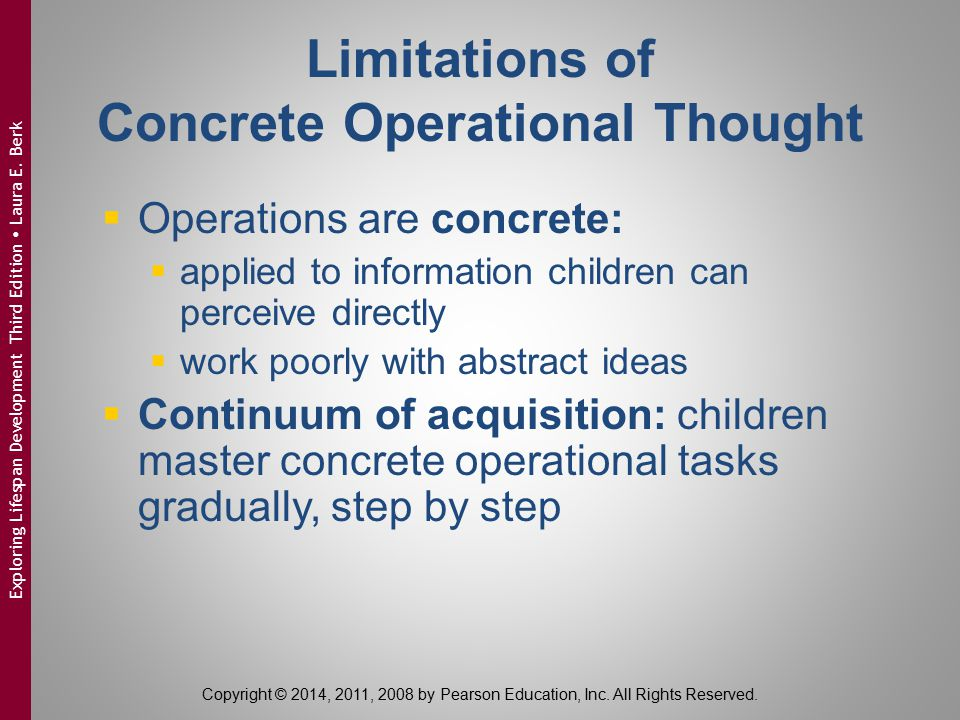 Limitations of Concrete Operational Thought