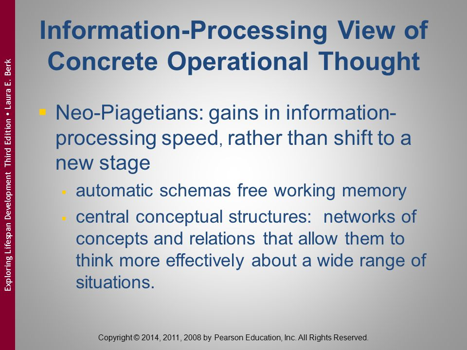 Information-Processing View of Concrete Operational Thought