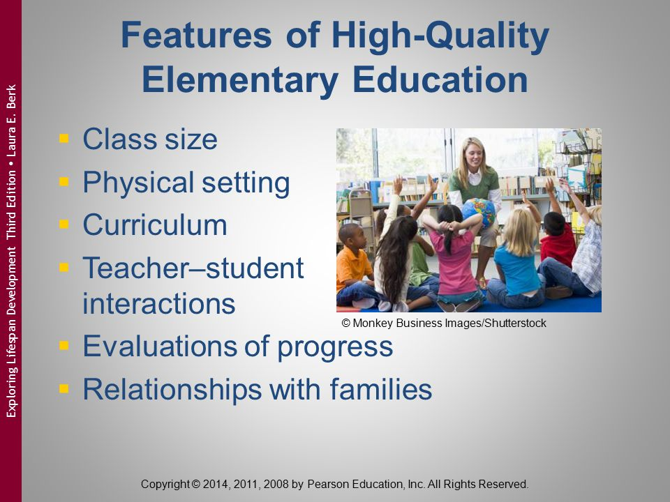 Features of High-Quality Elementary Education