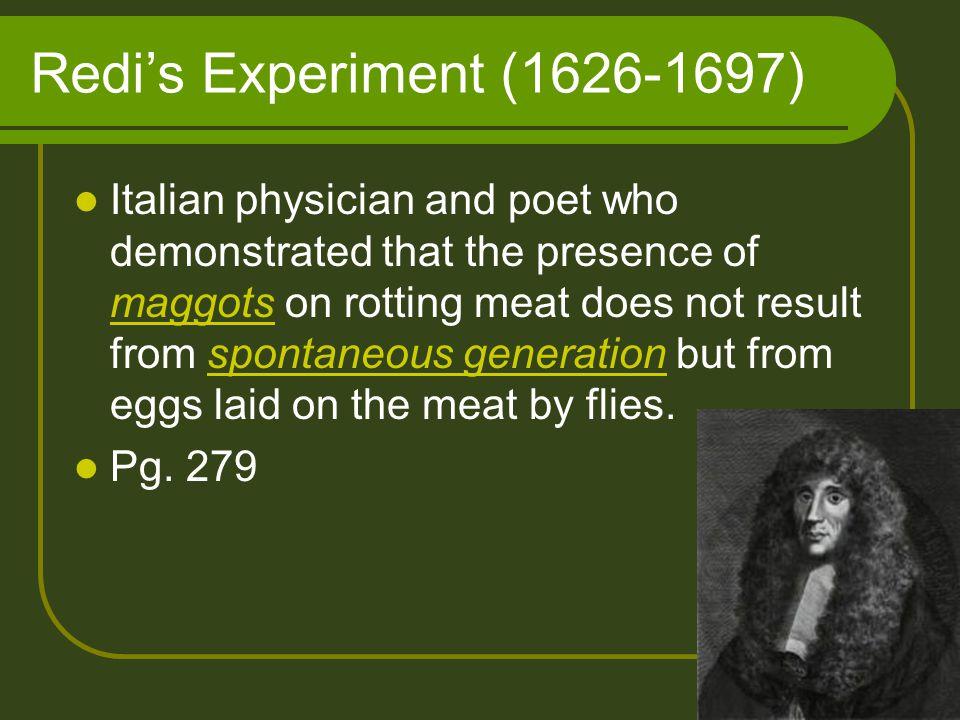 Redi's Experiment (1626-1697)