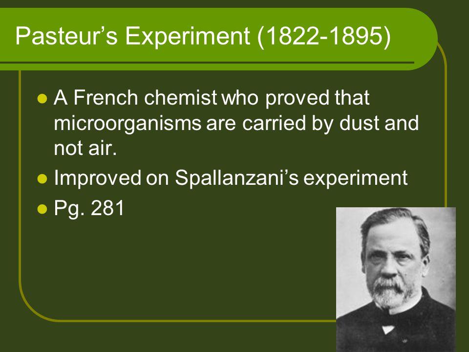 Pasteur's Experiment (1822-1895)
