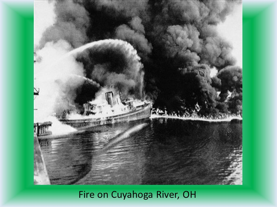 Fire on Cuyahoga River, OH