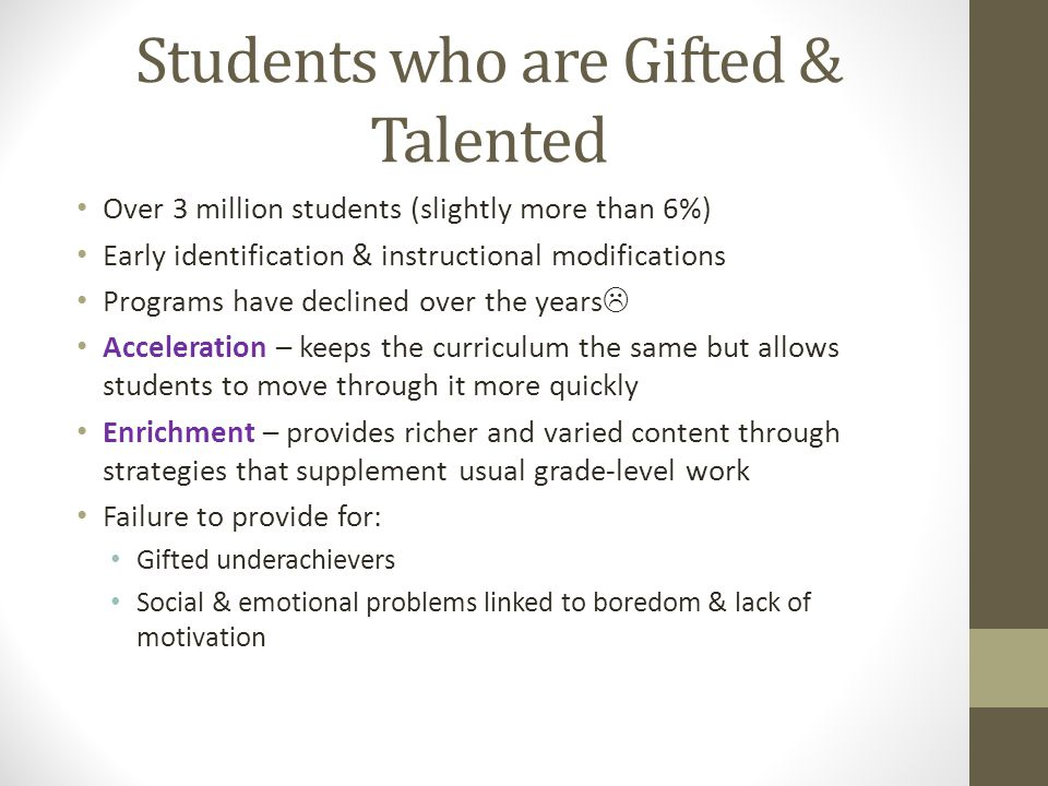 Students who are Gifted & Talented