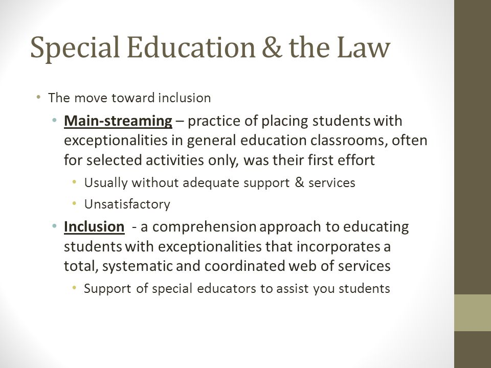 Special Education & the Law