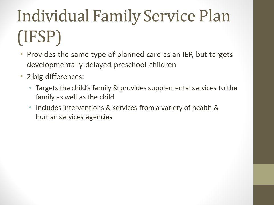 Individual Family Service Plan (IFSP)