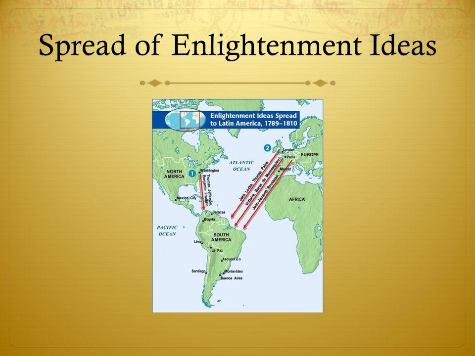 Spread of Enlightenment Ideas