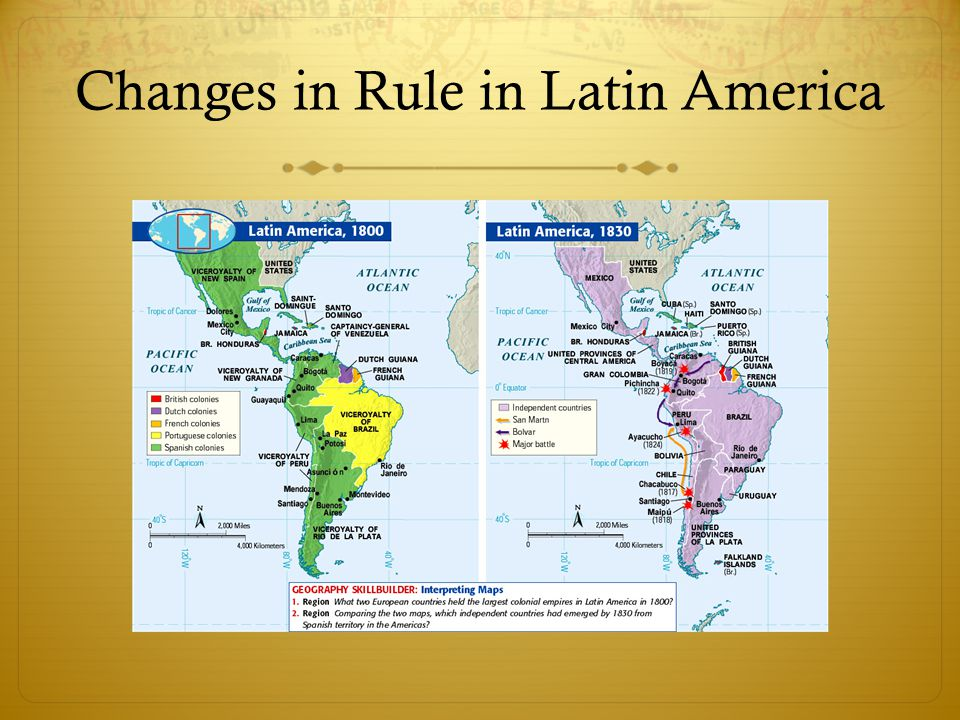 Changes in Rule in Latin America