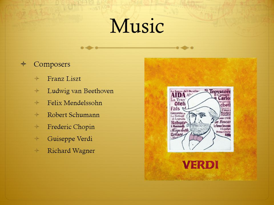 Music Composers Franz Liszt Ludwig van Beethoven Felix Mendelssohn