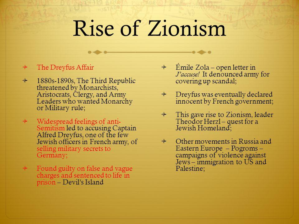 Rise of Zionism The Dreyfus Affair
