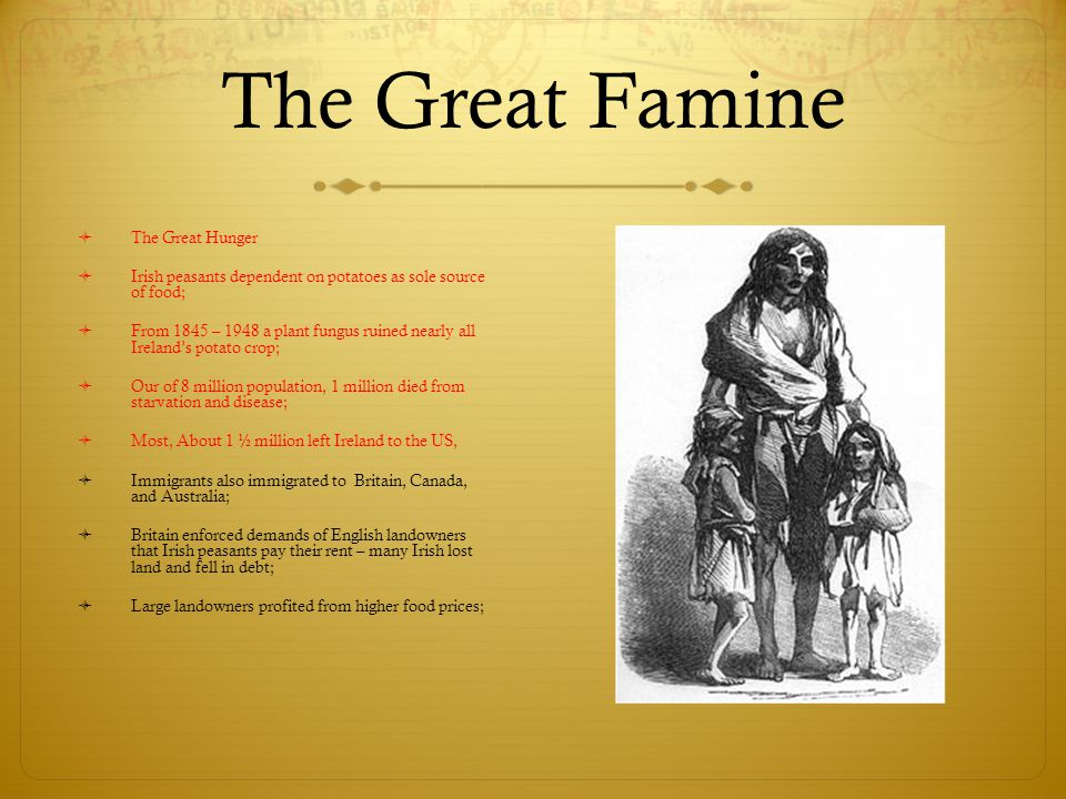The Great Famine The Great Hunger