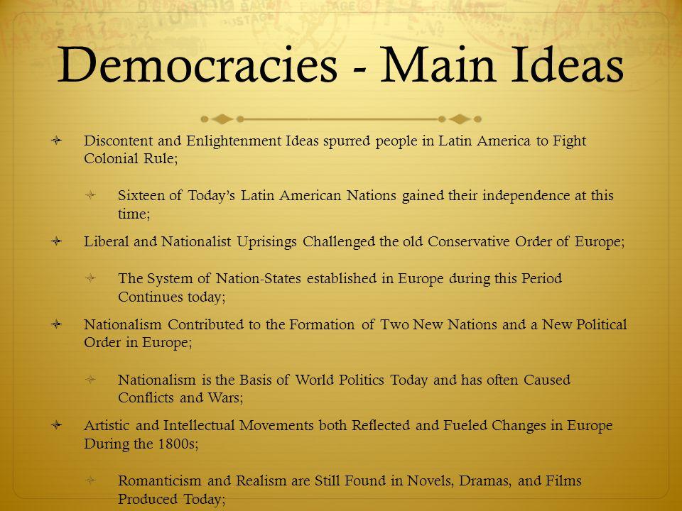 Democracies - Main Ideas