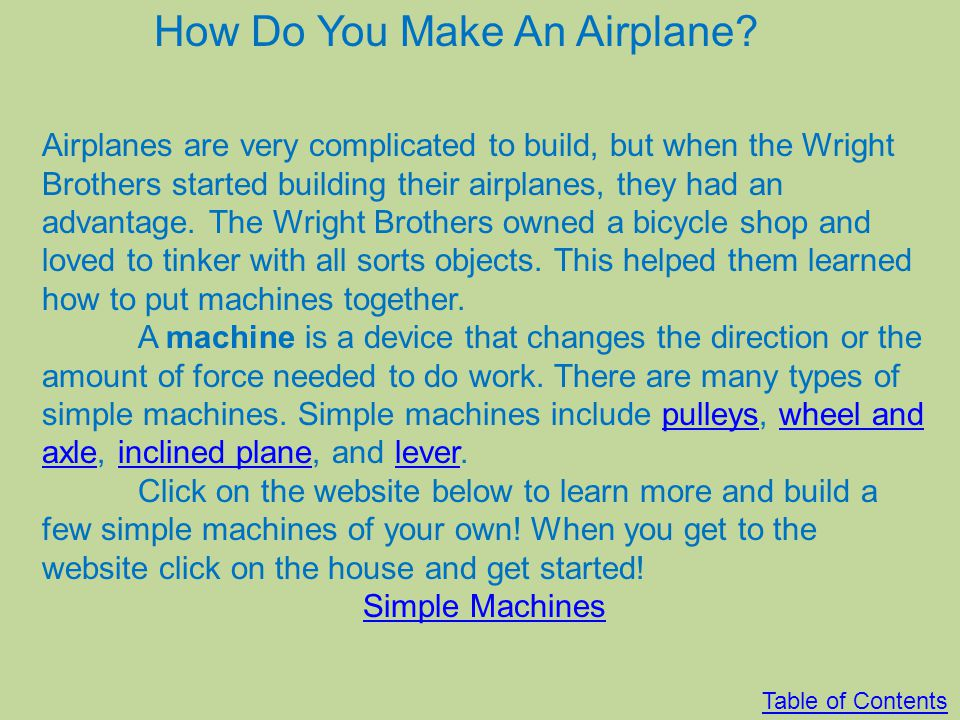 How Do You Make An Airplane