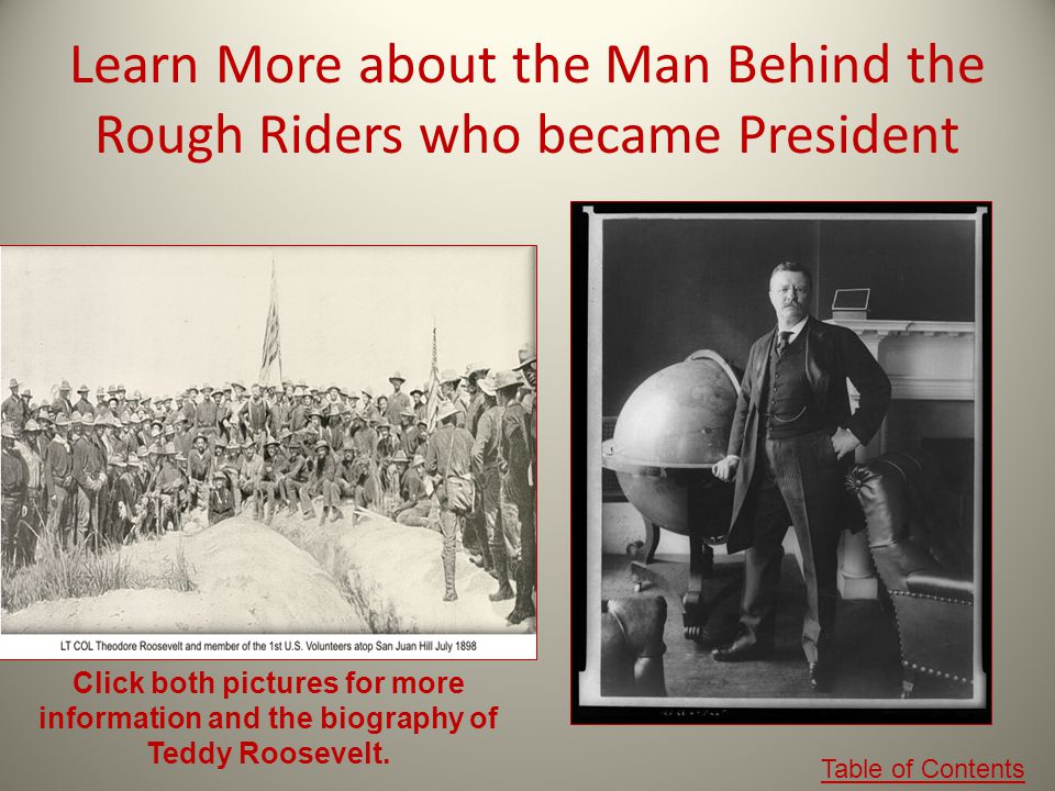 Learn More about the Man Behind the Rough Riders who became President