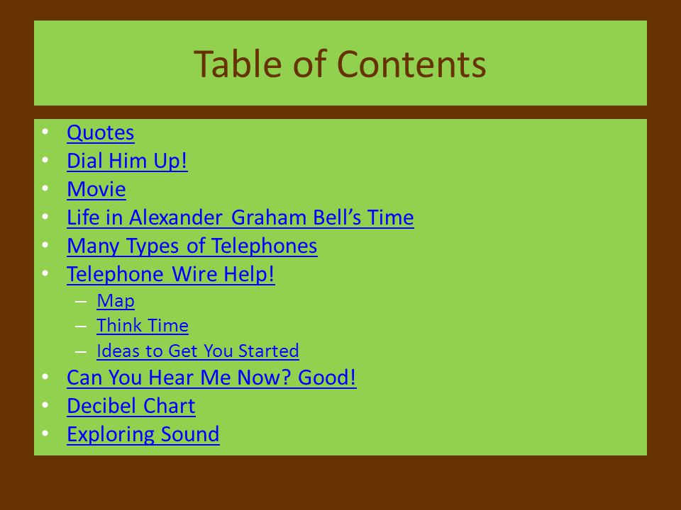 Table of Contents Quotes Dial Him Up! Movie