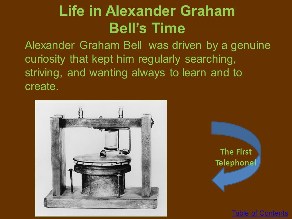 Life in Alexander Graham Bell's Time