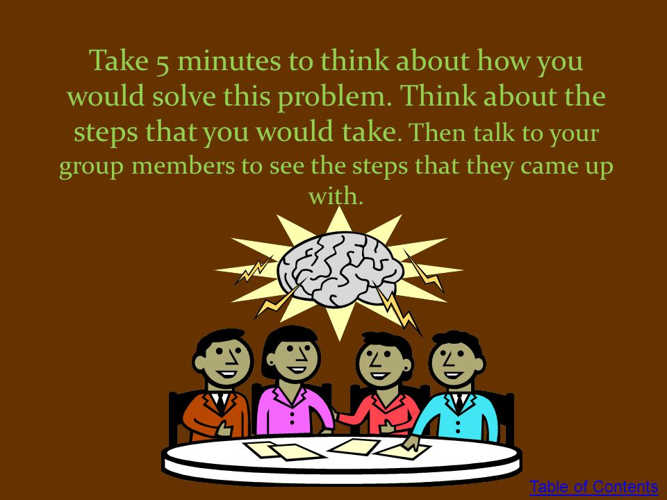 Take 5 minutes to think about how you would solve this problem